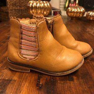 Cat & Jack Tan Ankle Kids Boots Size 7